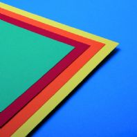 A2 Assorted Bright Coloured Card 160GSM - 100 Sheets